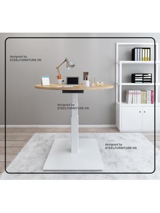 Round standing desk