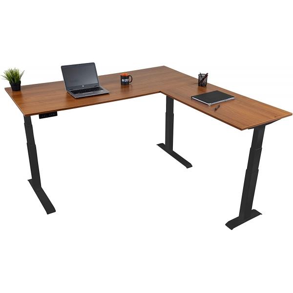 L shape standing desk